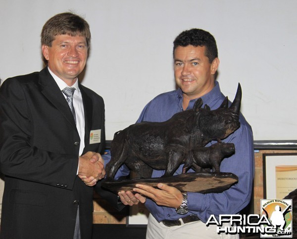 Wiaan with his trophy