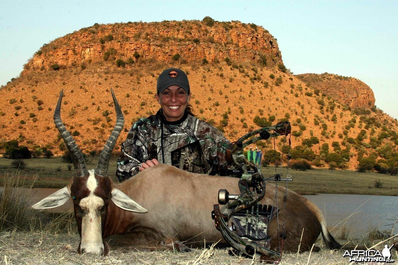 Bowhunting Blesbok with Wintershoek Johnny Vivier Safaris in South Africa