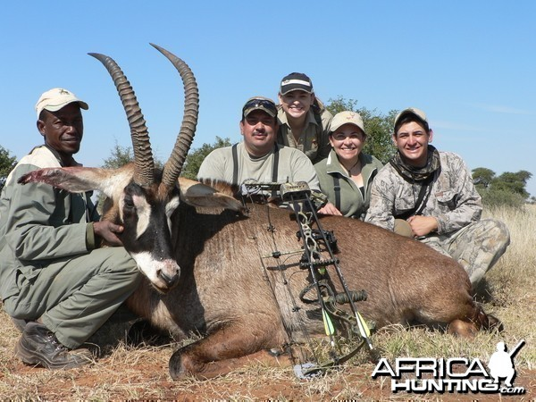 Bowhunting Roan with Wintershoek Johnny Vivier Safaris in South Africa