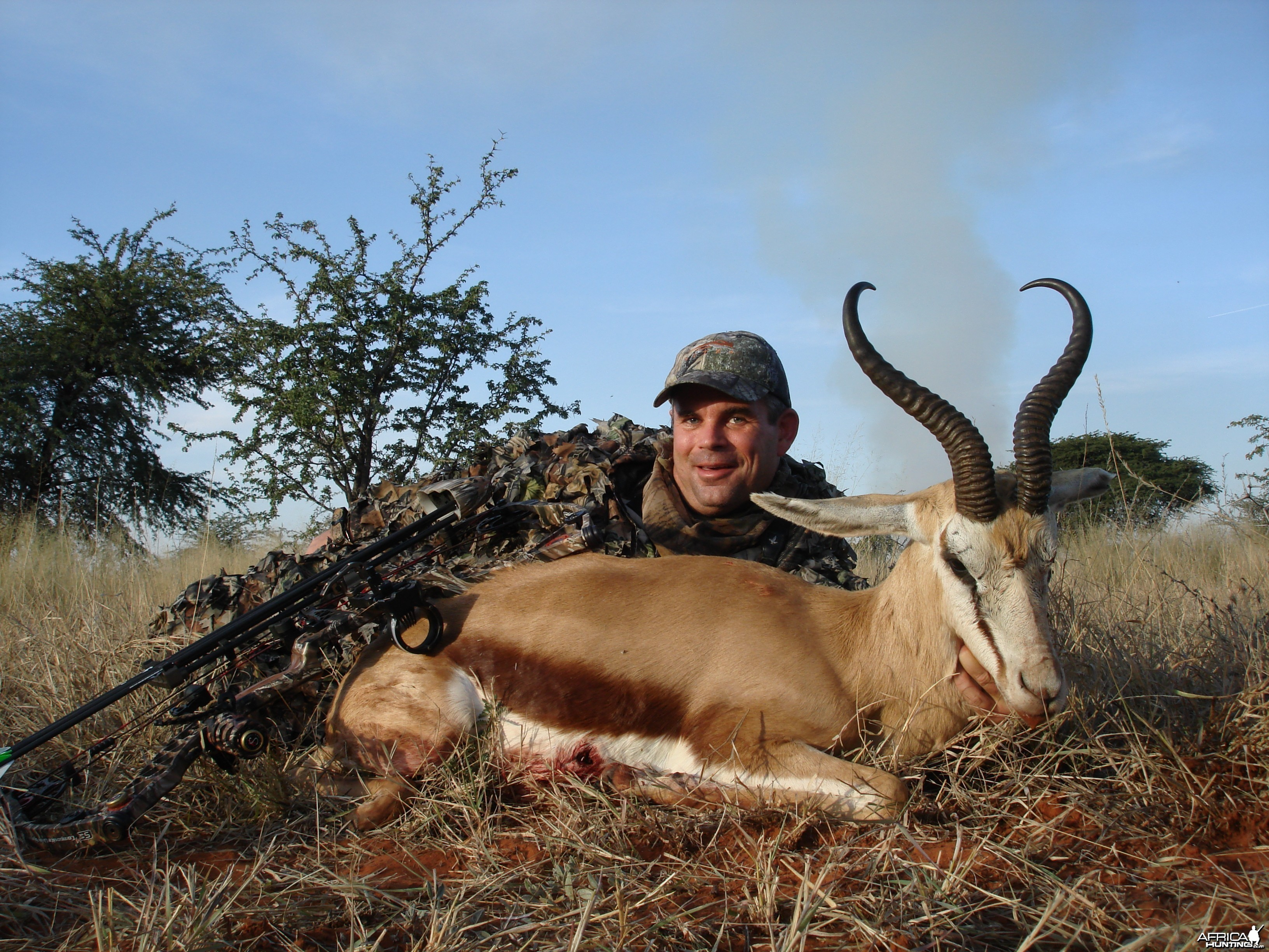 Bowhunting Springbuck with Wintershoek Johnny Vivier Safaris in South Afric