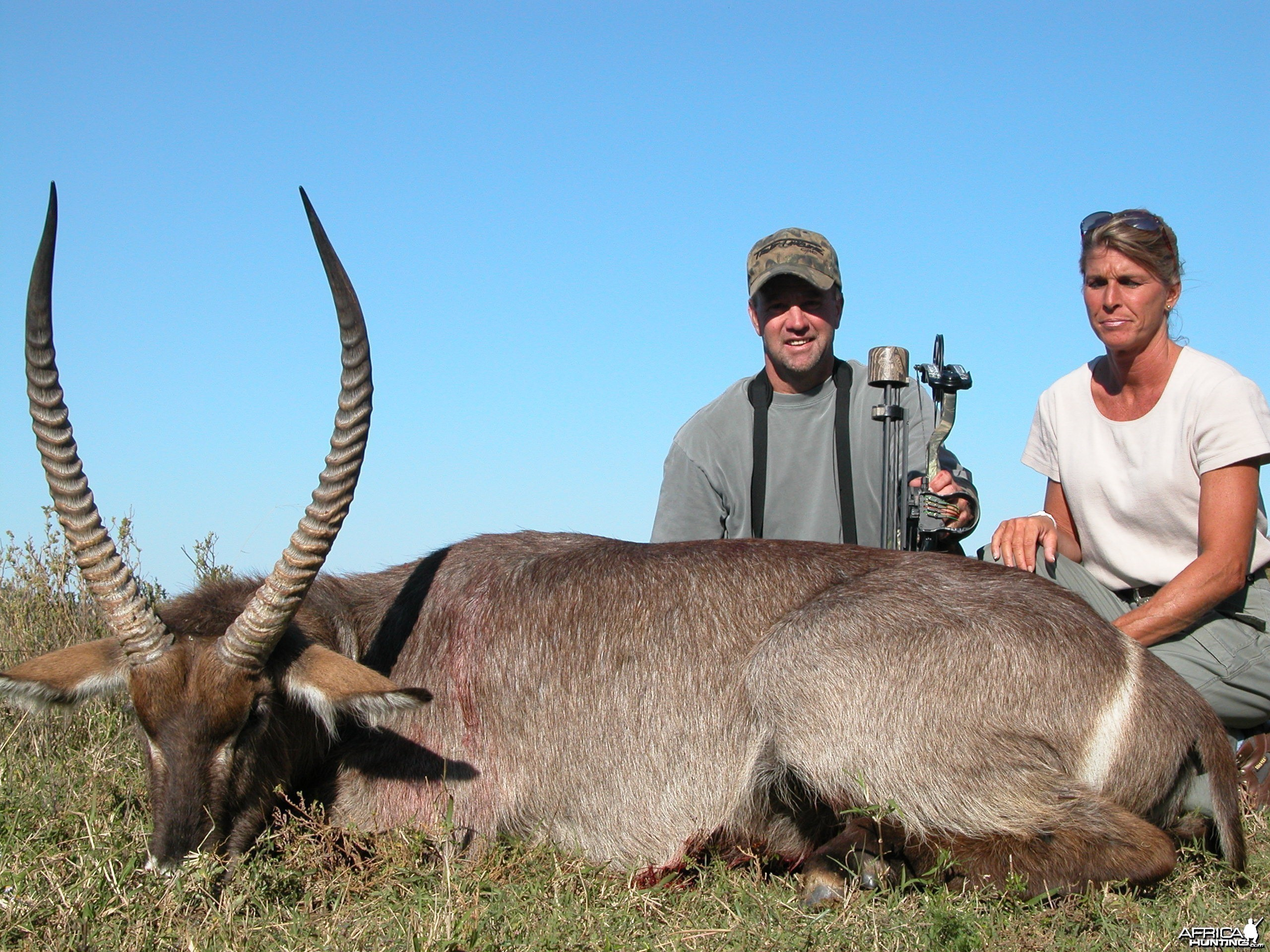 Bowhunting Waterbuck with Wintershoek Johnny Vivier Safaris in South Africa