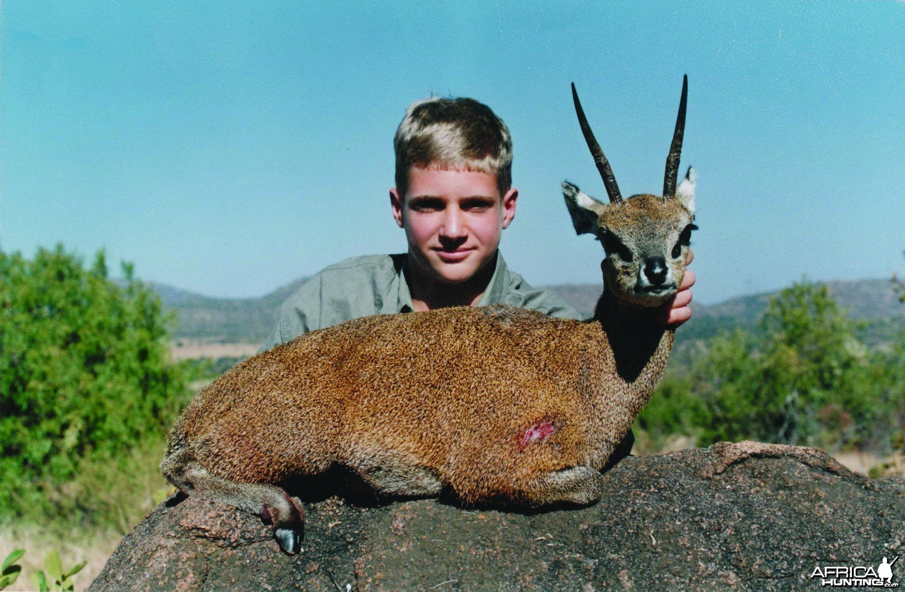 Hunting Klipspringer with Wintershoek Johnny Vivier Safaris in SA