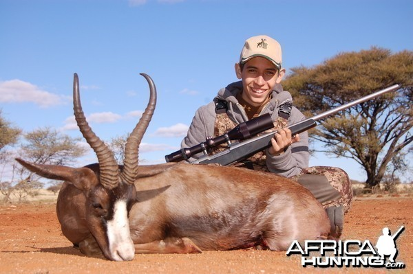 Hunting Black Springbuck with Wintershoek Johnny Vivier Safaris in SA