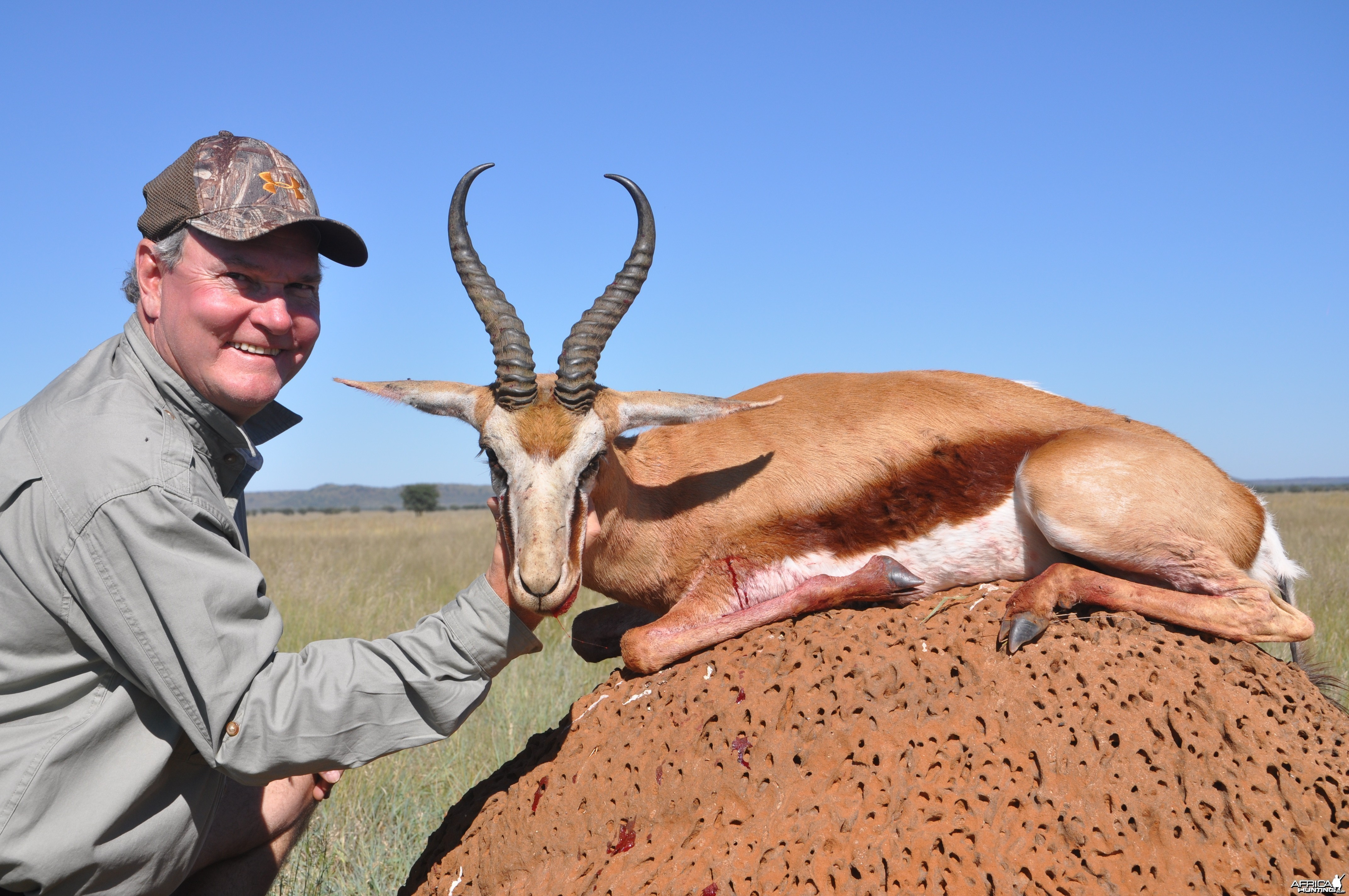 Hunting Springbuck with Wintershoek Johnny Vivier Safaris in SA