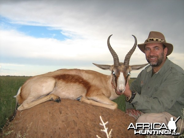 Hunting Copper Springbuck with Wintershoek Johnny Vivier Safaris in SA
