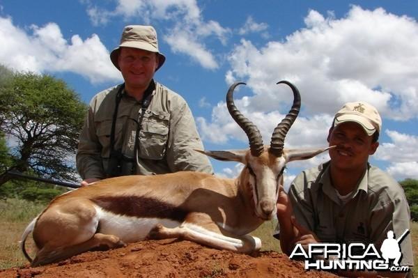 Hunting Springbuck with Wintershoek Johnny Vivier Safaris in SA