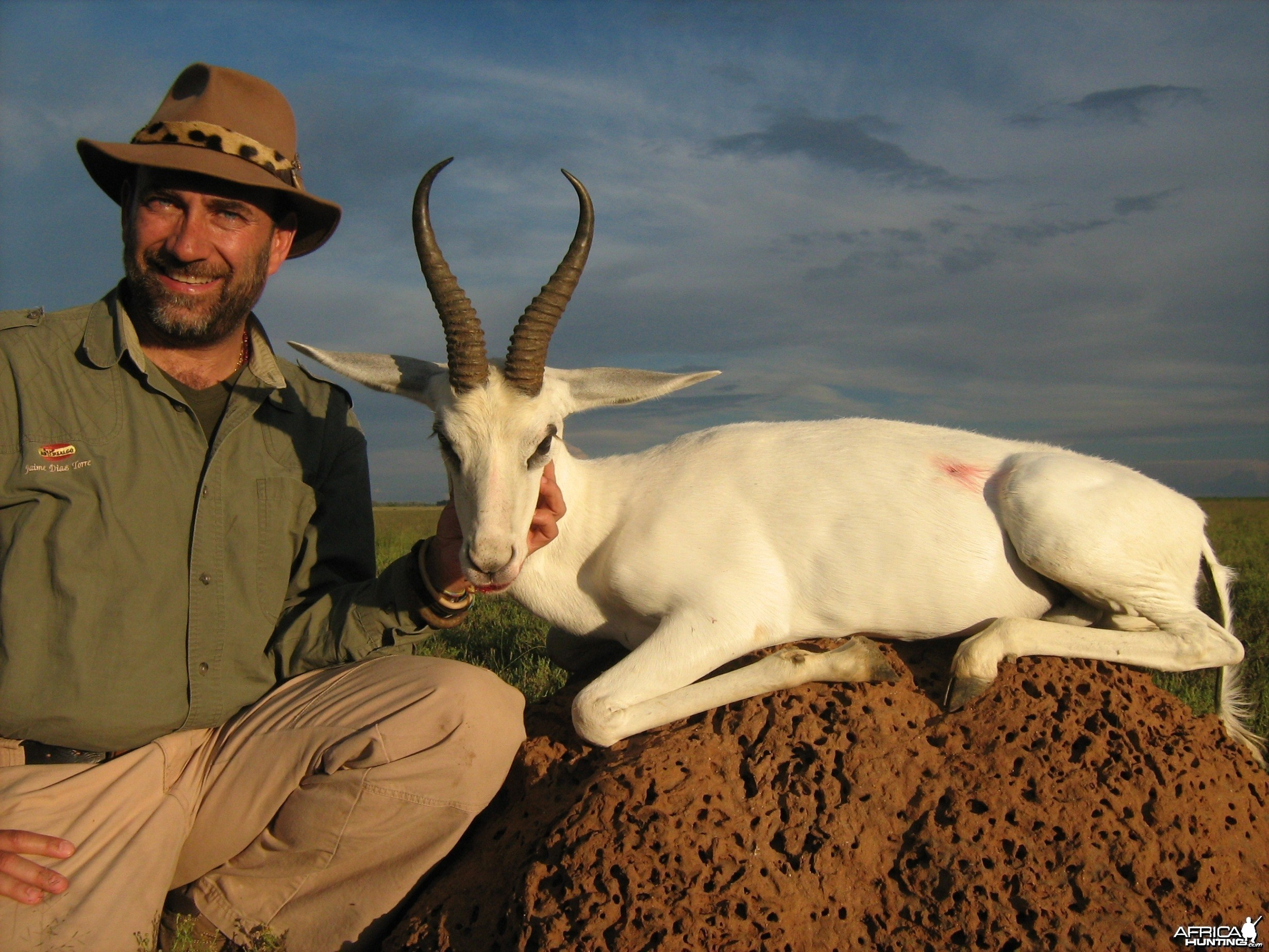 Hunting White Springbuck with Wintershoek Johnny Vivier Safaris in SA