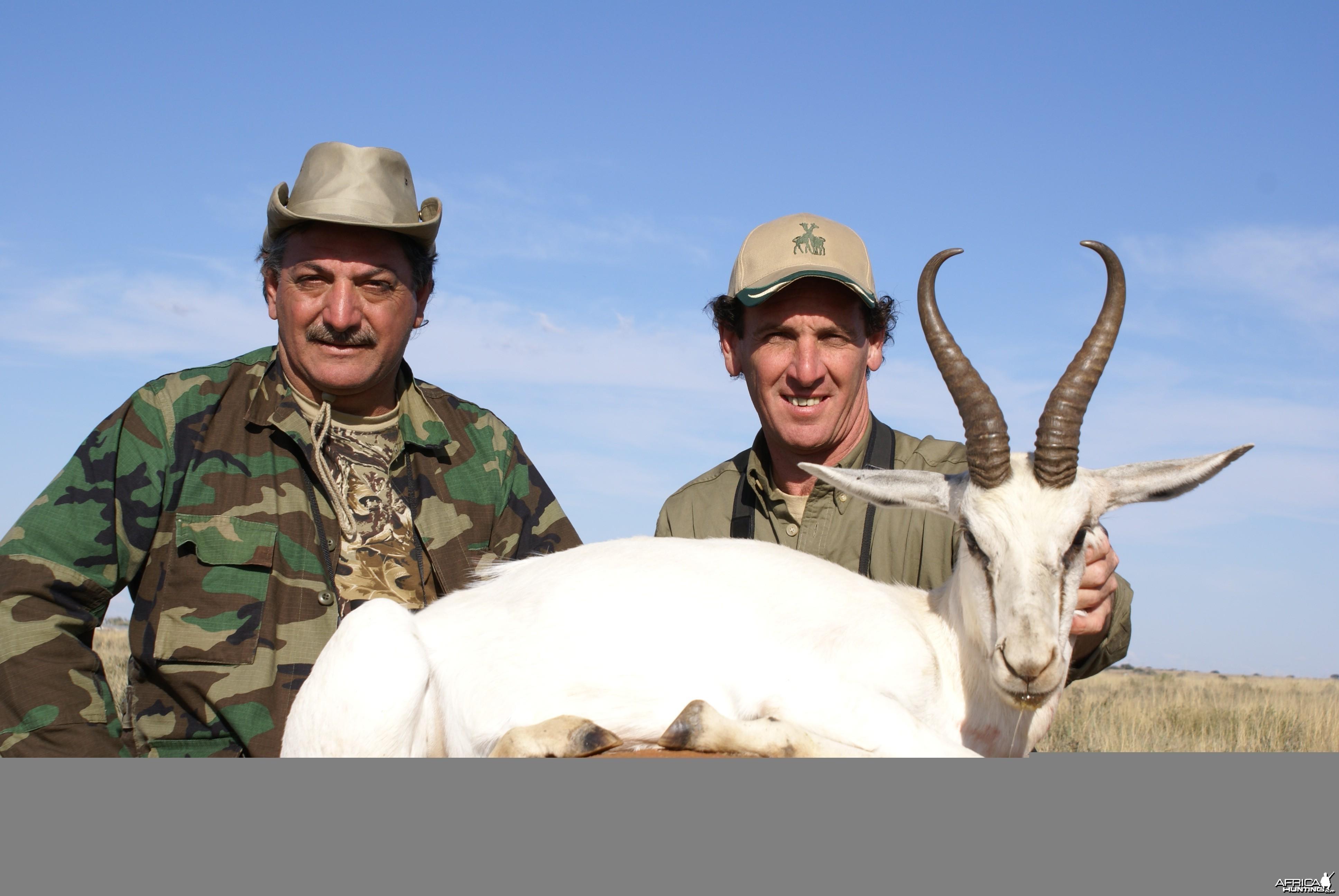 Hunting White Springbuck with Wintershoek Johnny Vivier Safaris in SA