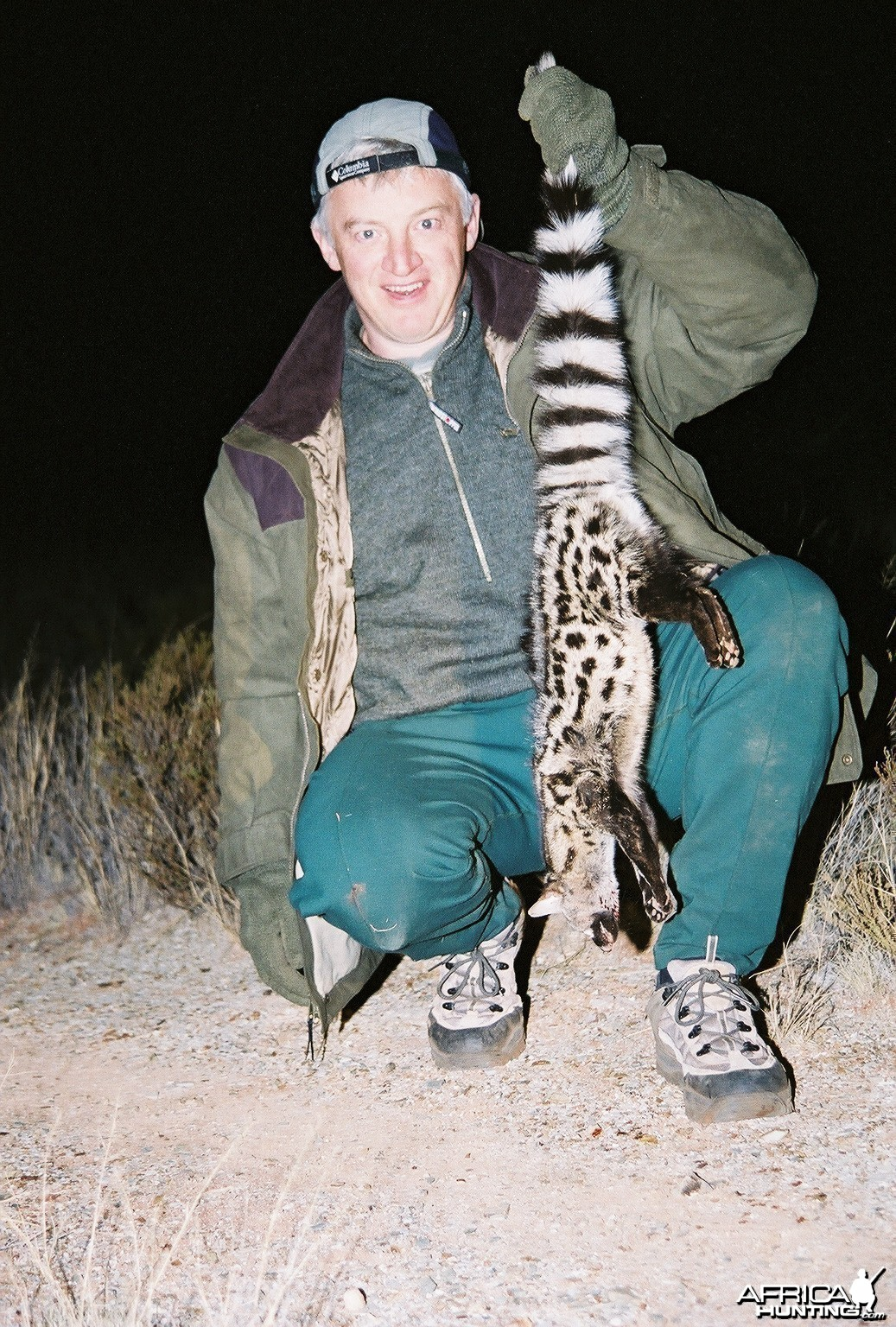 Hunting Genet Cat with Wintershoek Johnny Vivier Safaris in SA
