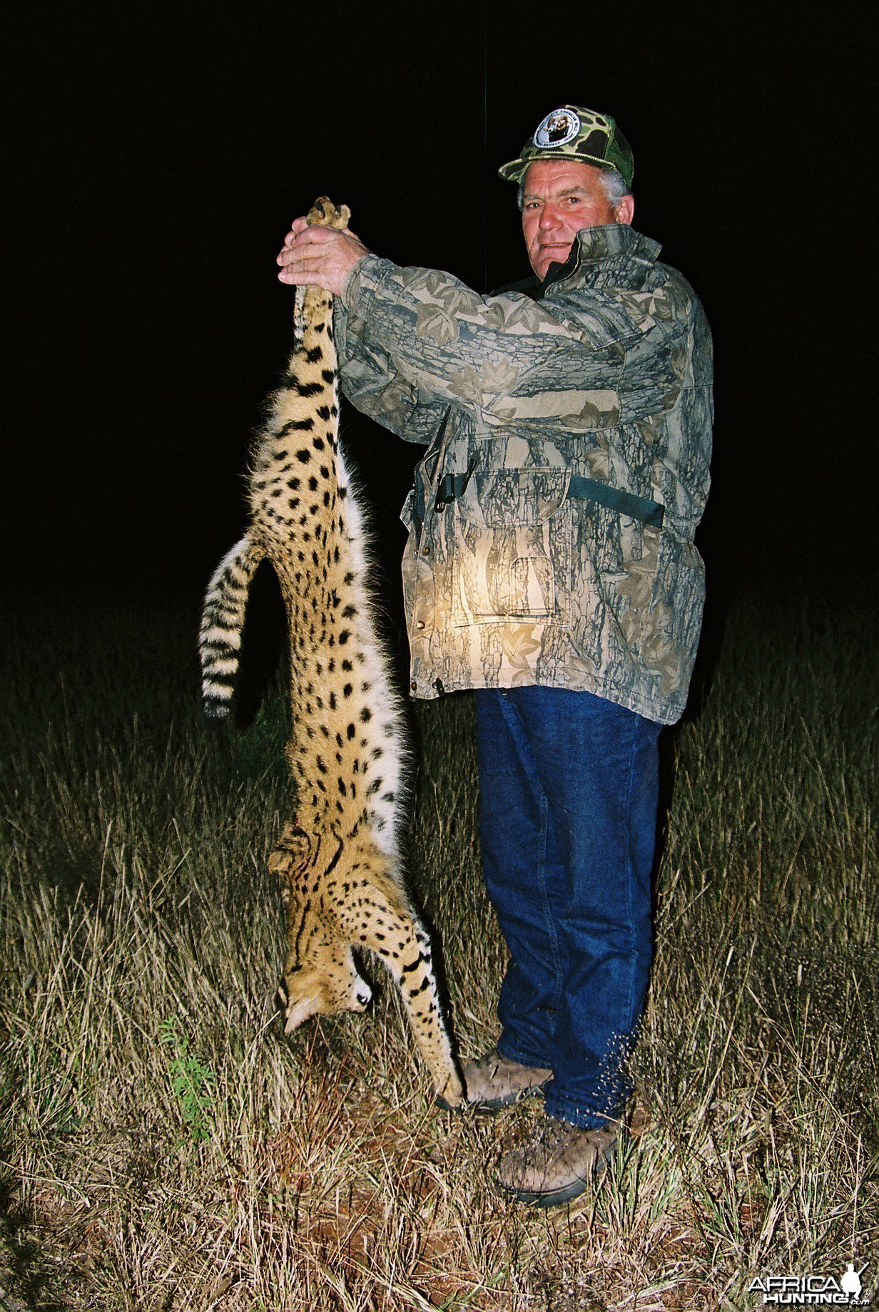 Hunting Serval with Wintershoek Johnny Vivier Safaris in SA