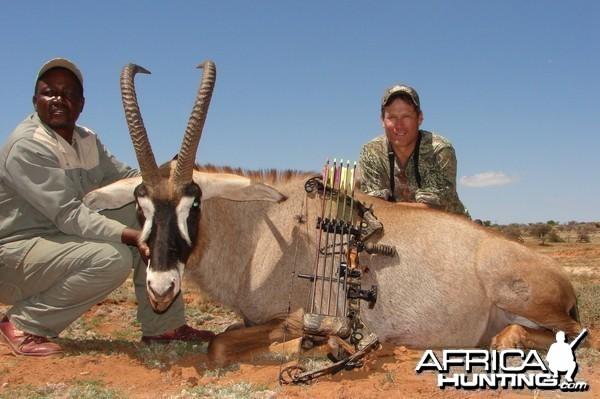 Bowhunting Roan with Wintershoek Johnny Vivier Safaris in SA