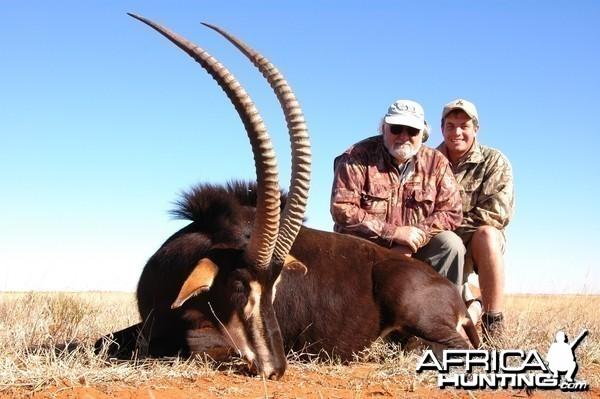Hunting Sable with Wintershoek Johnny Vivier Safaris in SA
