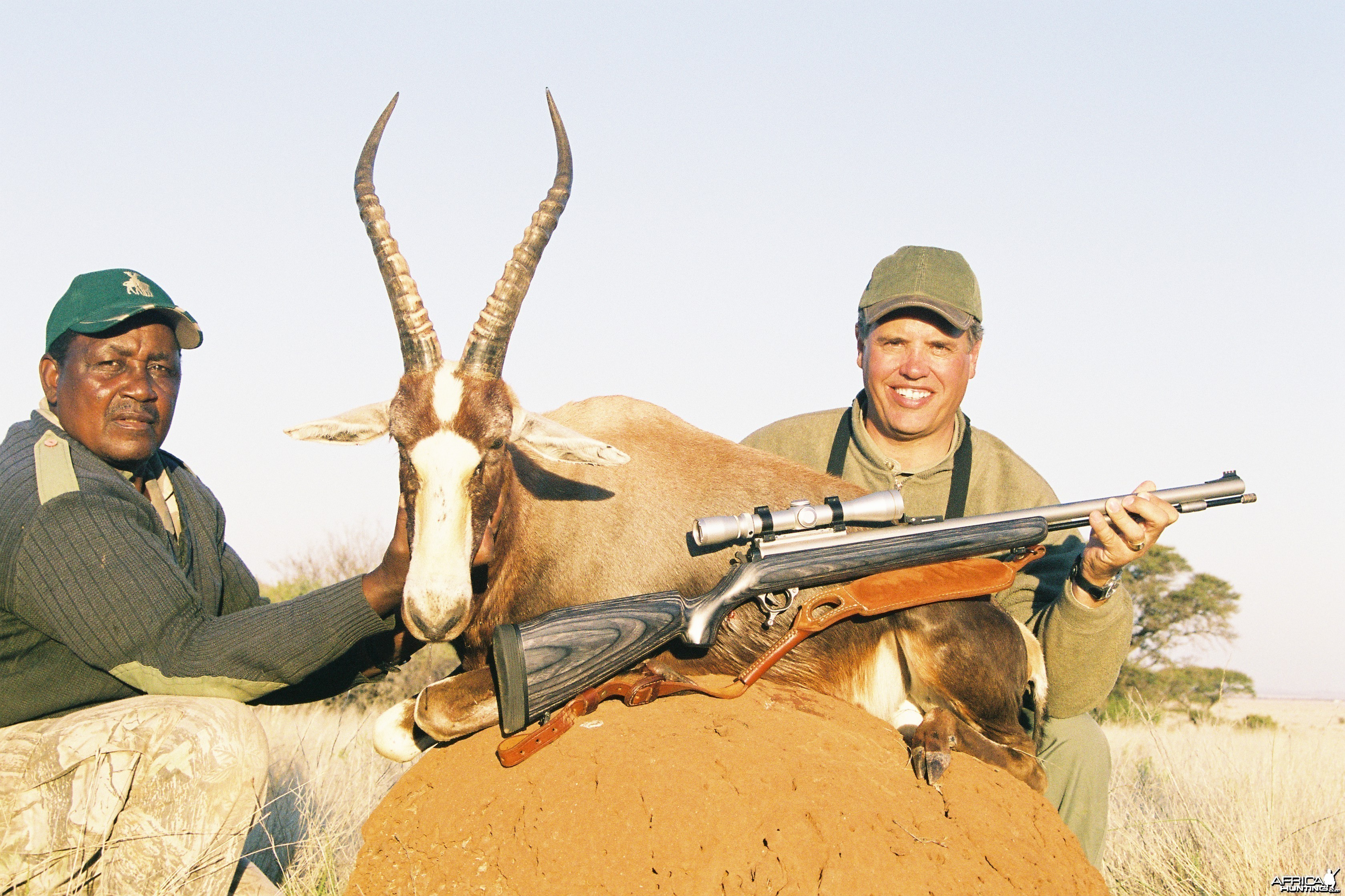 Hunting Blesbok with Wintershoek Johnny Vivier Safaris in SA