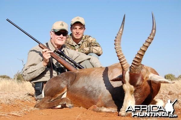 Hunting Blesbok with Wintershoek Johnny Vivier Safaris in SA