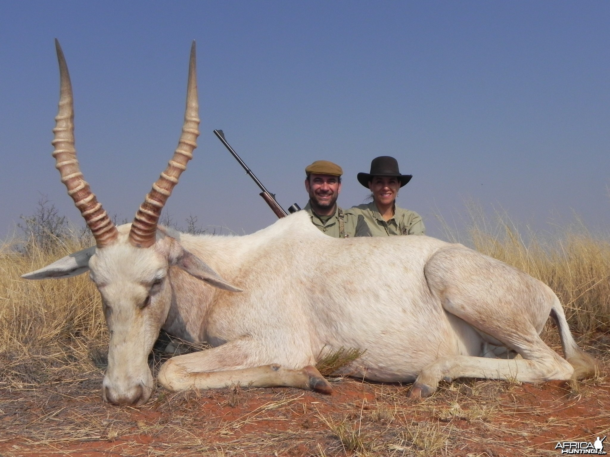 Hunting White Blesbok with Wintershoek Johnny Vivier Safaris in SA