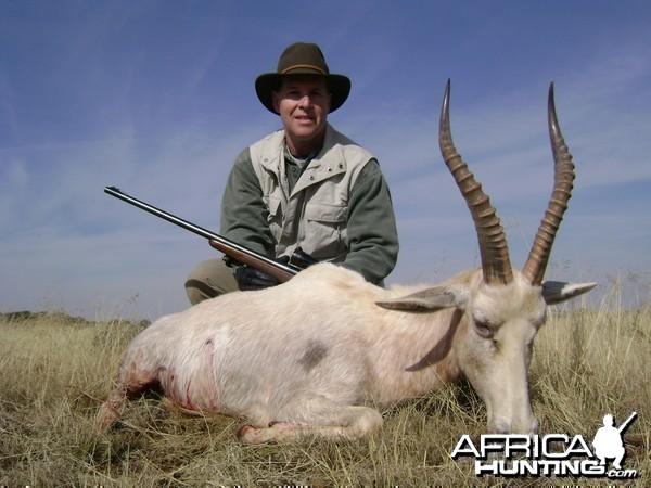Hunting White Blesbok with Wintershoek Johnny Vivier Safaris in SA