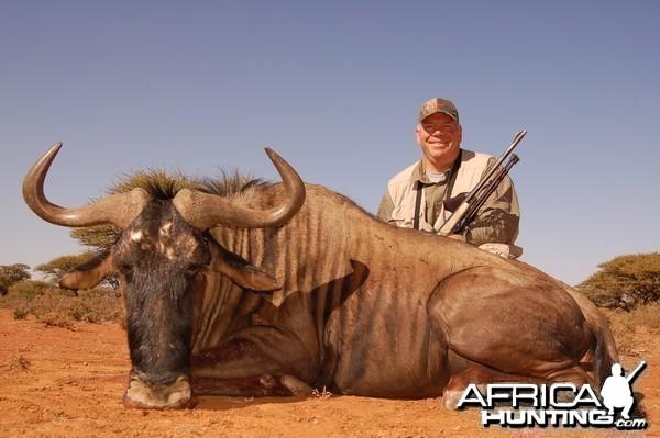 Hunting Blue Wildebeest with Wintershoek Johnny Vivier Safaris in SA