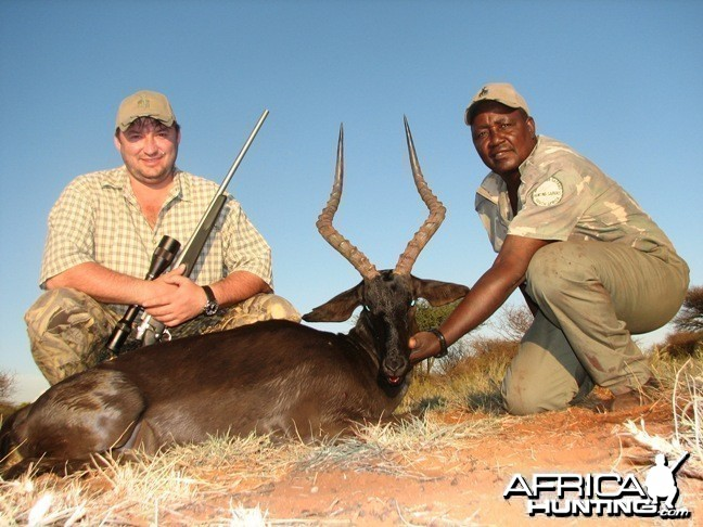 Hunting Black Impala with Wintershoek Johnny Vivier Safaris in SA