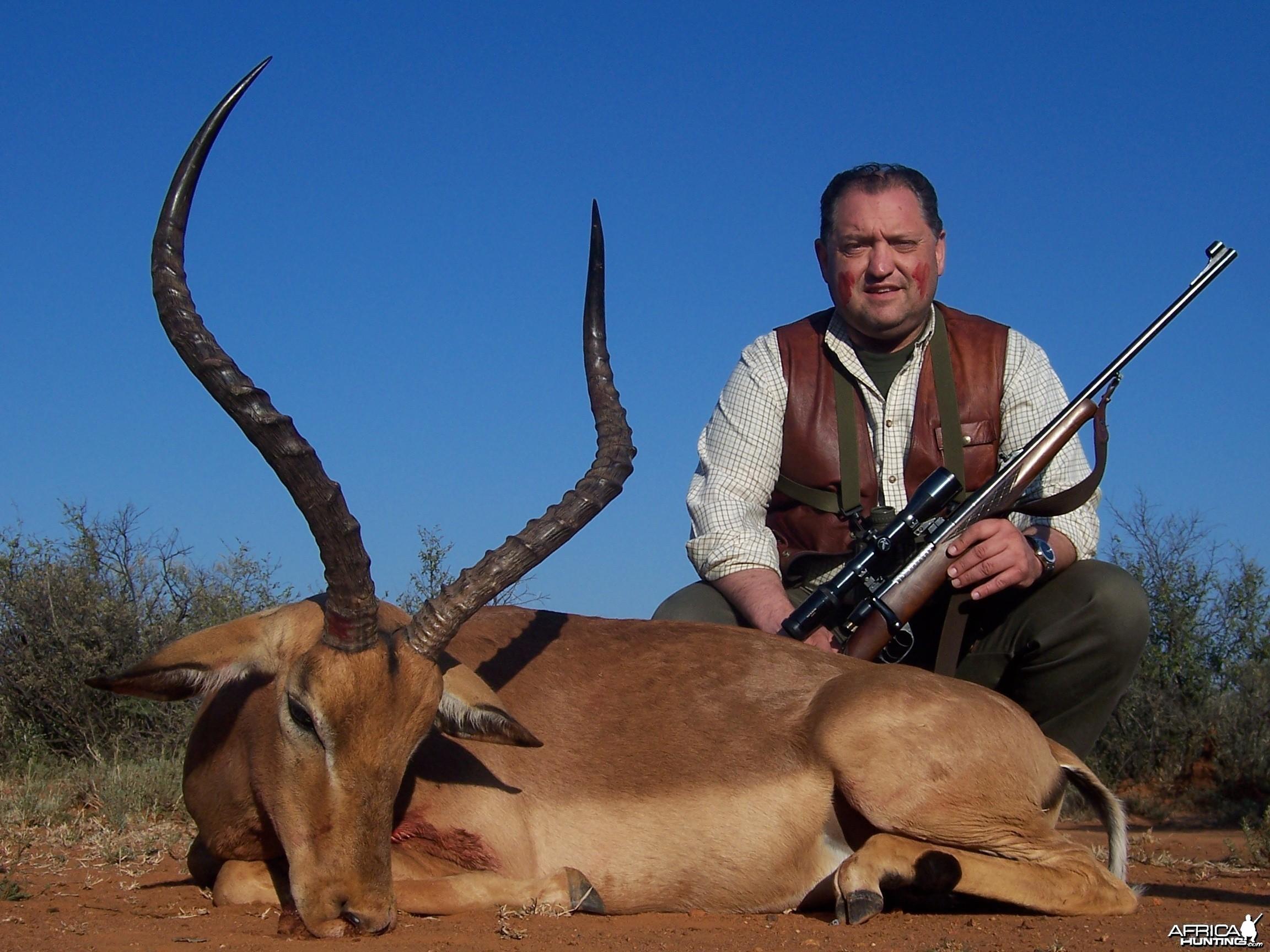 Hunting Impala with Wintershoek Johnny Vivier Safaris in SA