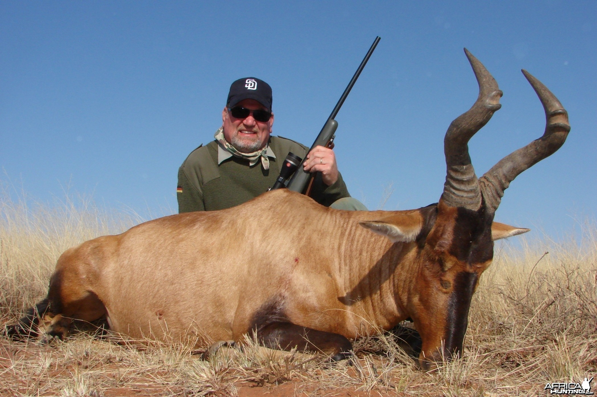 Hunting Red Hartebeest with Wintershoek Johnny Vivier Safaris in SA