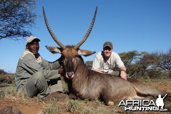 Hunting Waterbuck with Wintershoek Johnny Vivier Safaris in SA