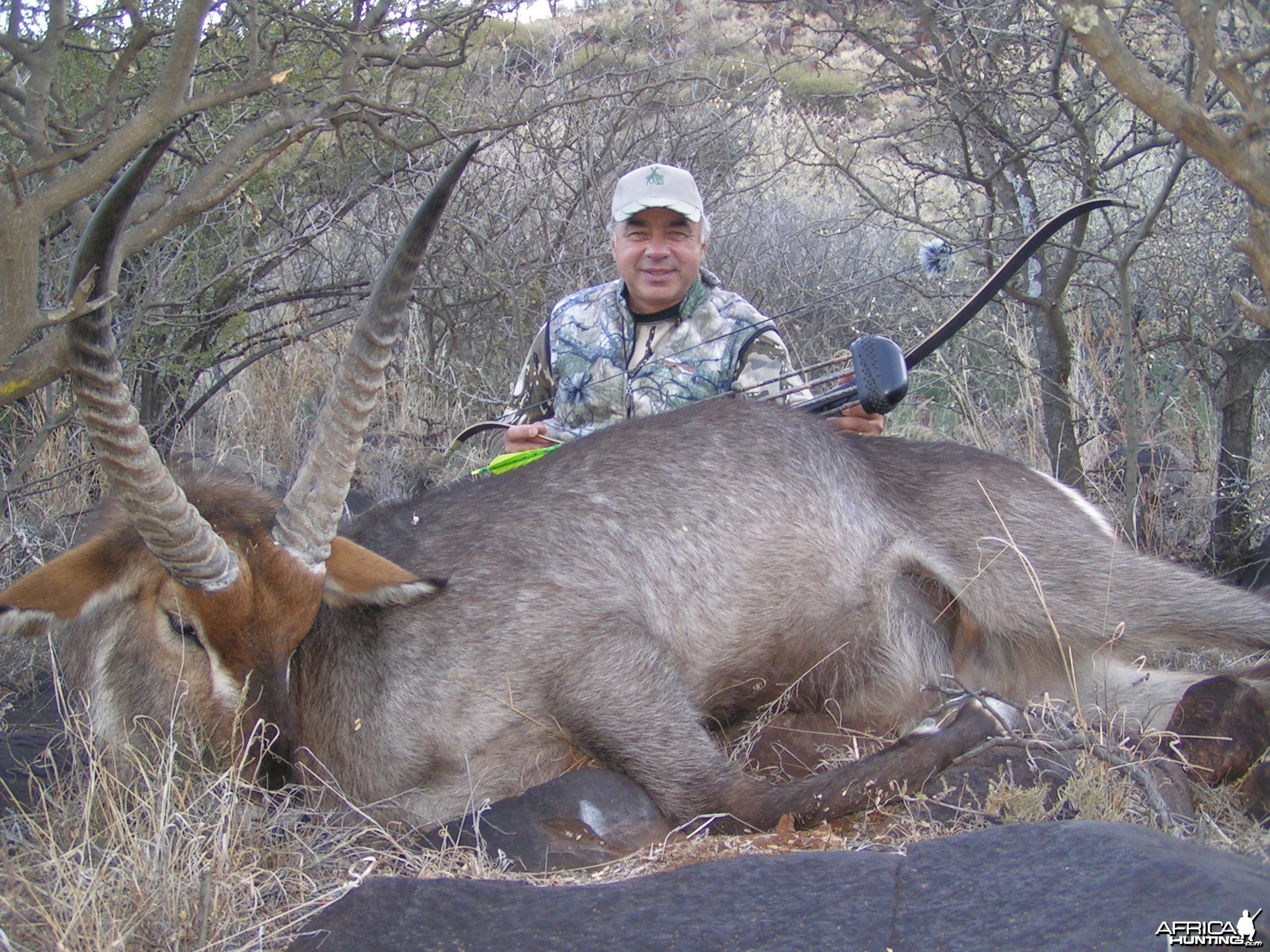 Bowhunting Waterbuck with Wintershoek Johnny Vivier Safaris in SA