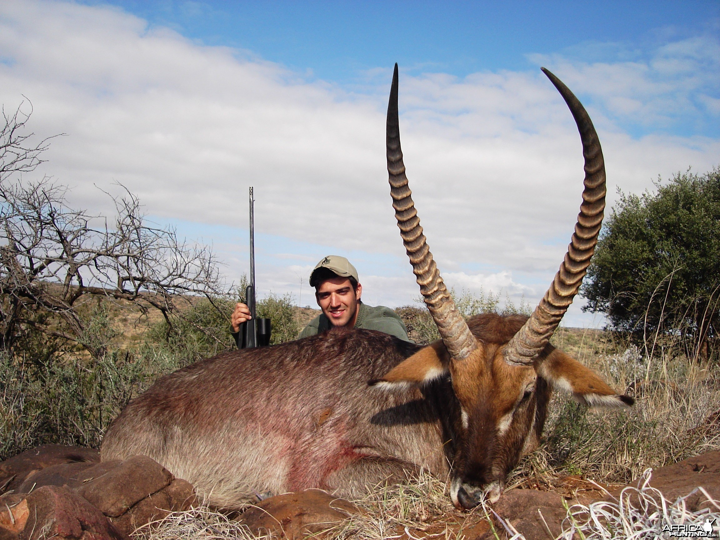 Hunting Waterbuck with Wintershoek Johnny Vivier Safaris in SA