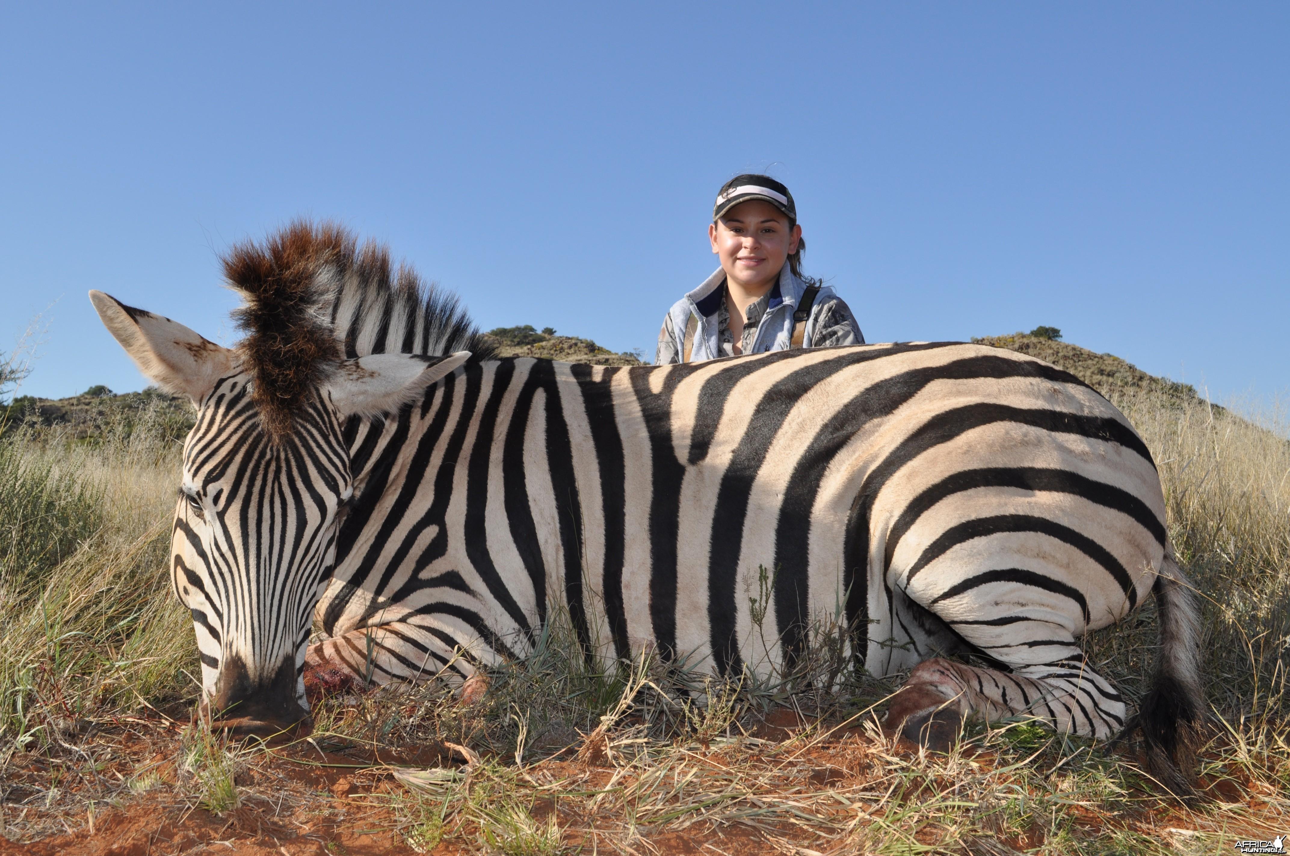 Hunting Burchell Zebra with Wintershoek Johnny Vivier Safaris in SA