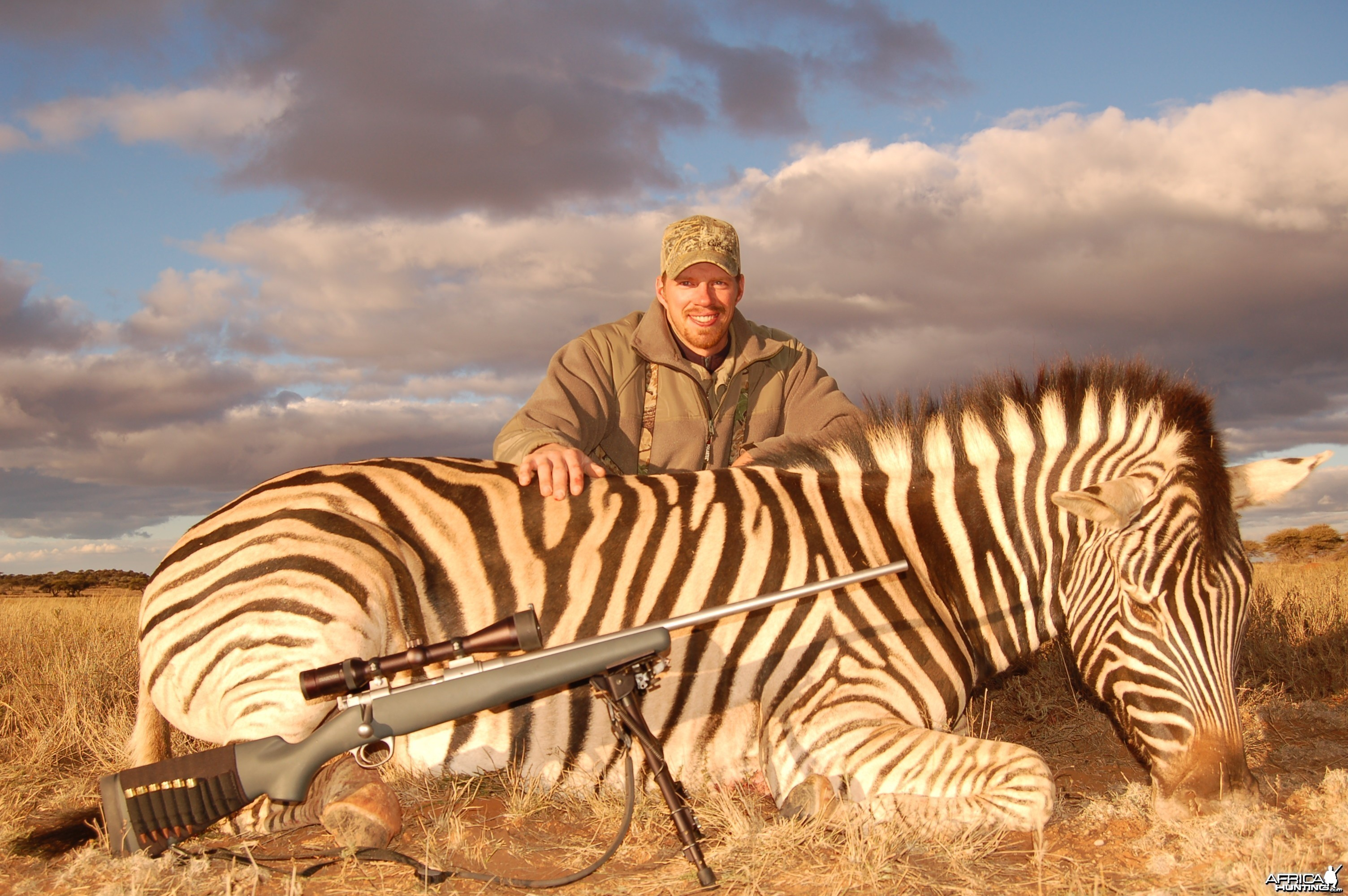 Hunting Burchell Zebra with Wintershoek Johnny Vivier Safaris in SA