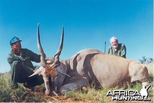Hunting Eland with Wintershoek Johnny Vivier Safaris in SA