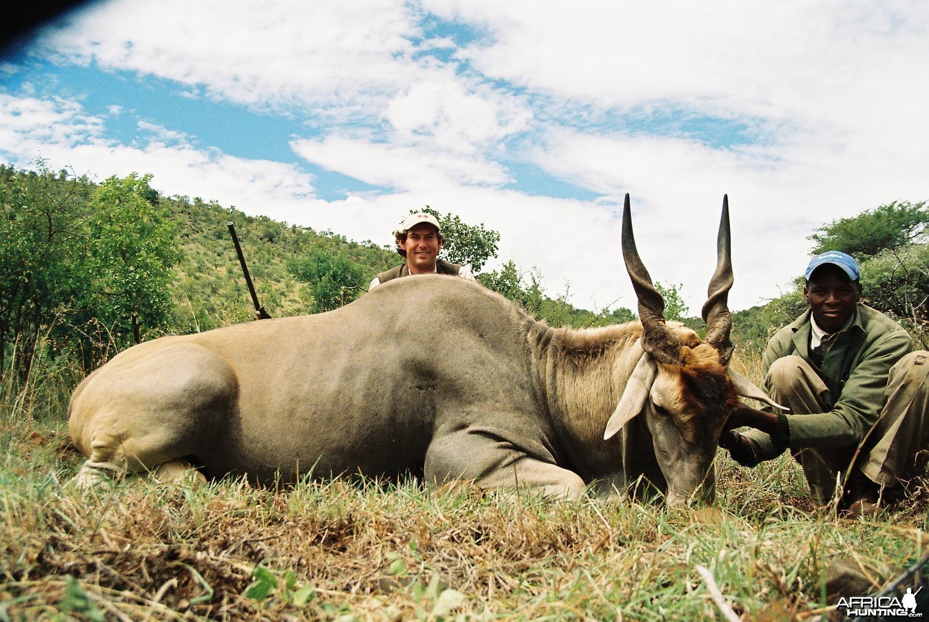 Hunting Eland with Wintershoek Johnny Vivier Safaris in SA