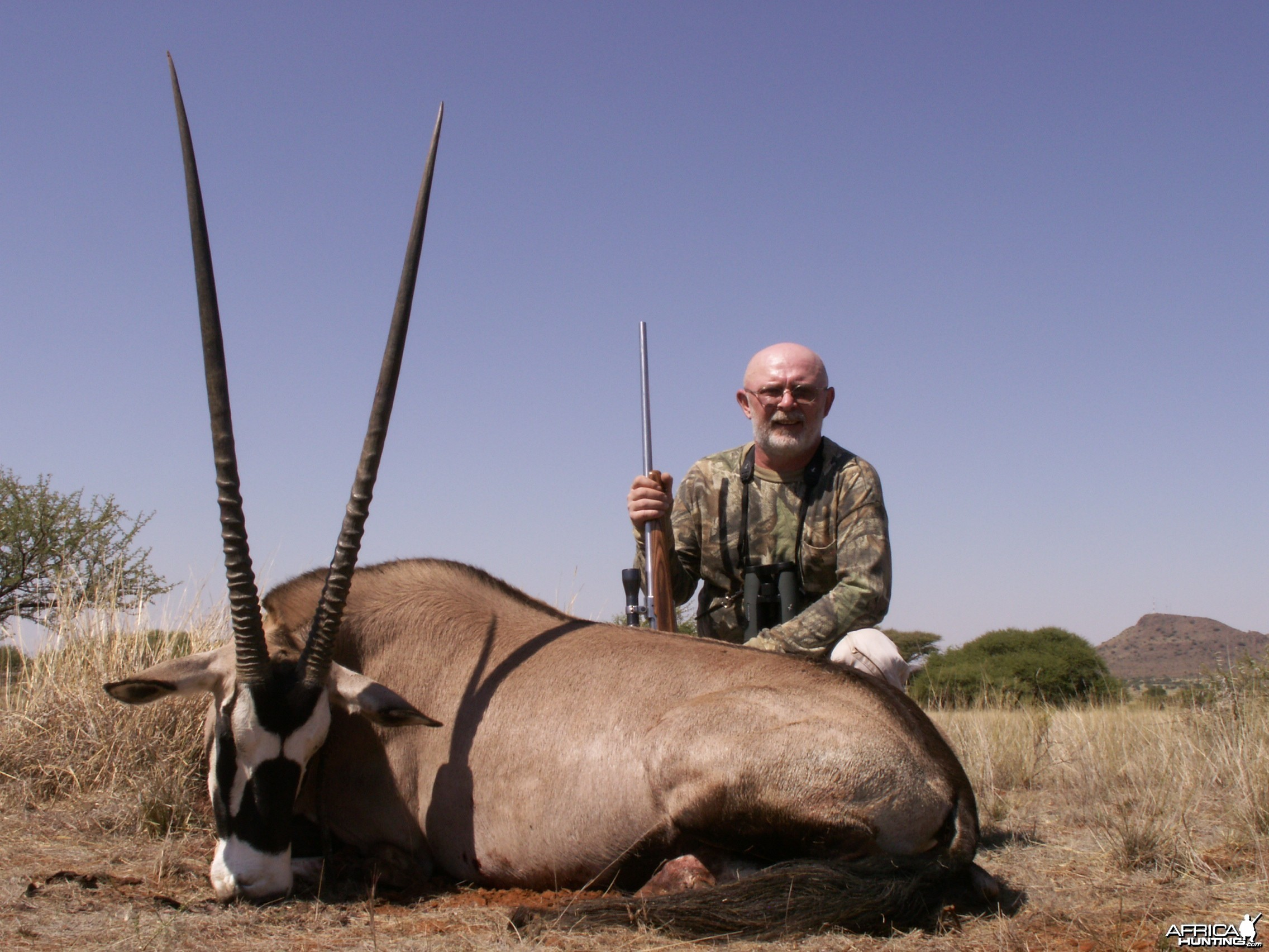 Hunting Gemsbuck with Wintershoek Johnny Vivier Safaris in SA