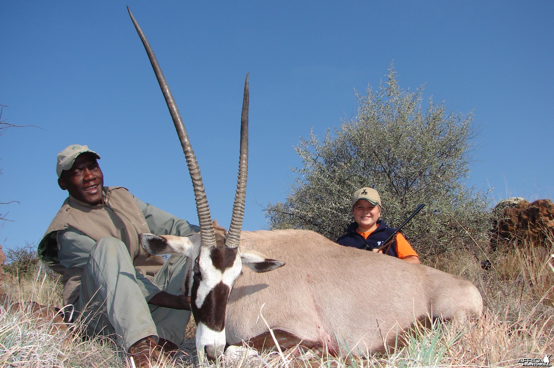 Hunting Gemsbuck with Wintershoek Johnny Vivier Safaris in SA