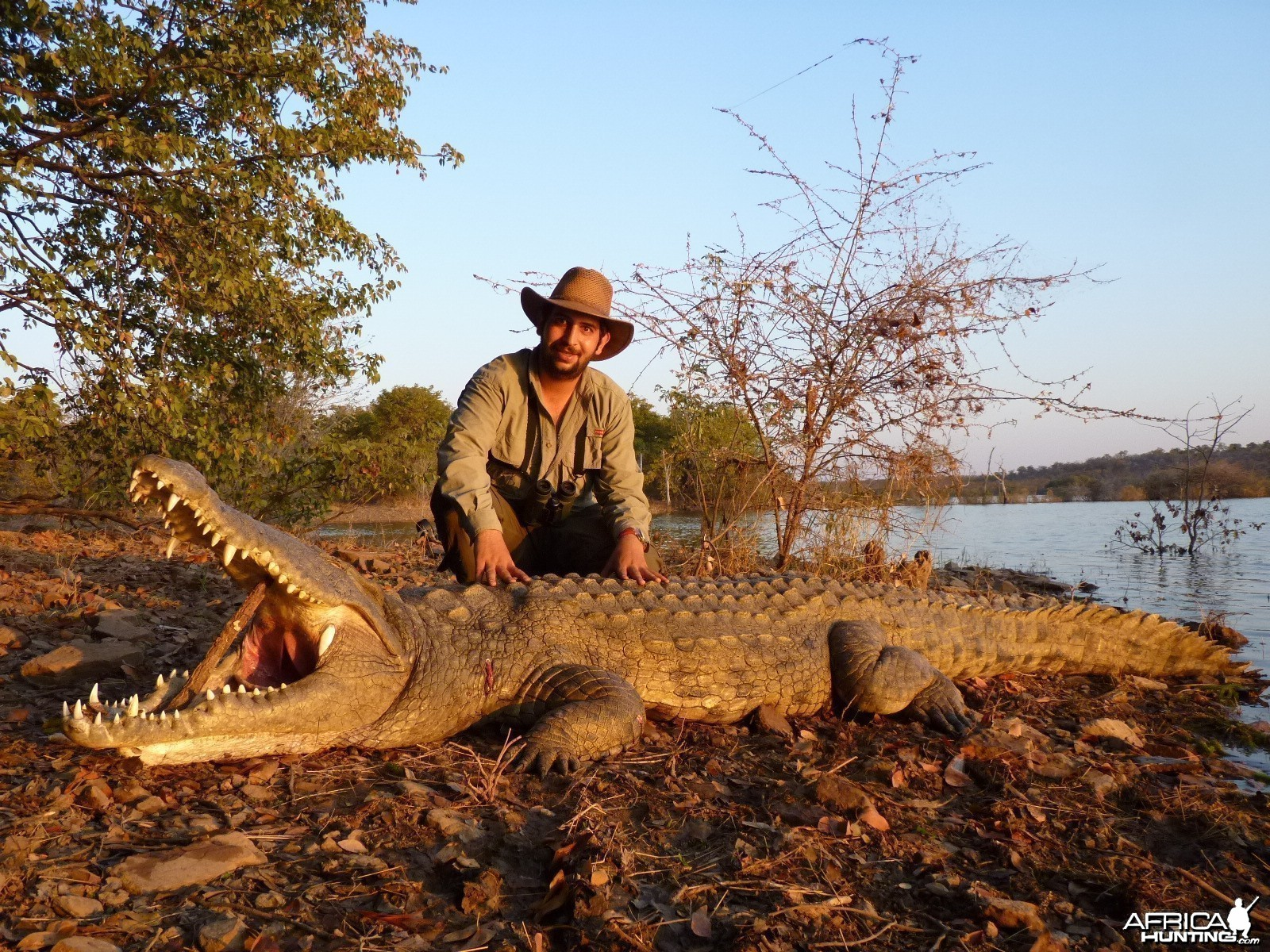 Hunting Crocodile with Wintershoek Johnny Vivier Safaris in SA
