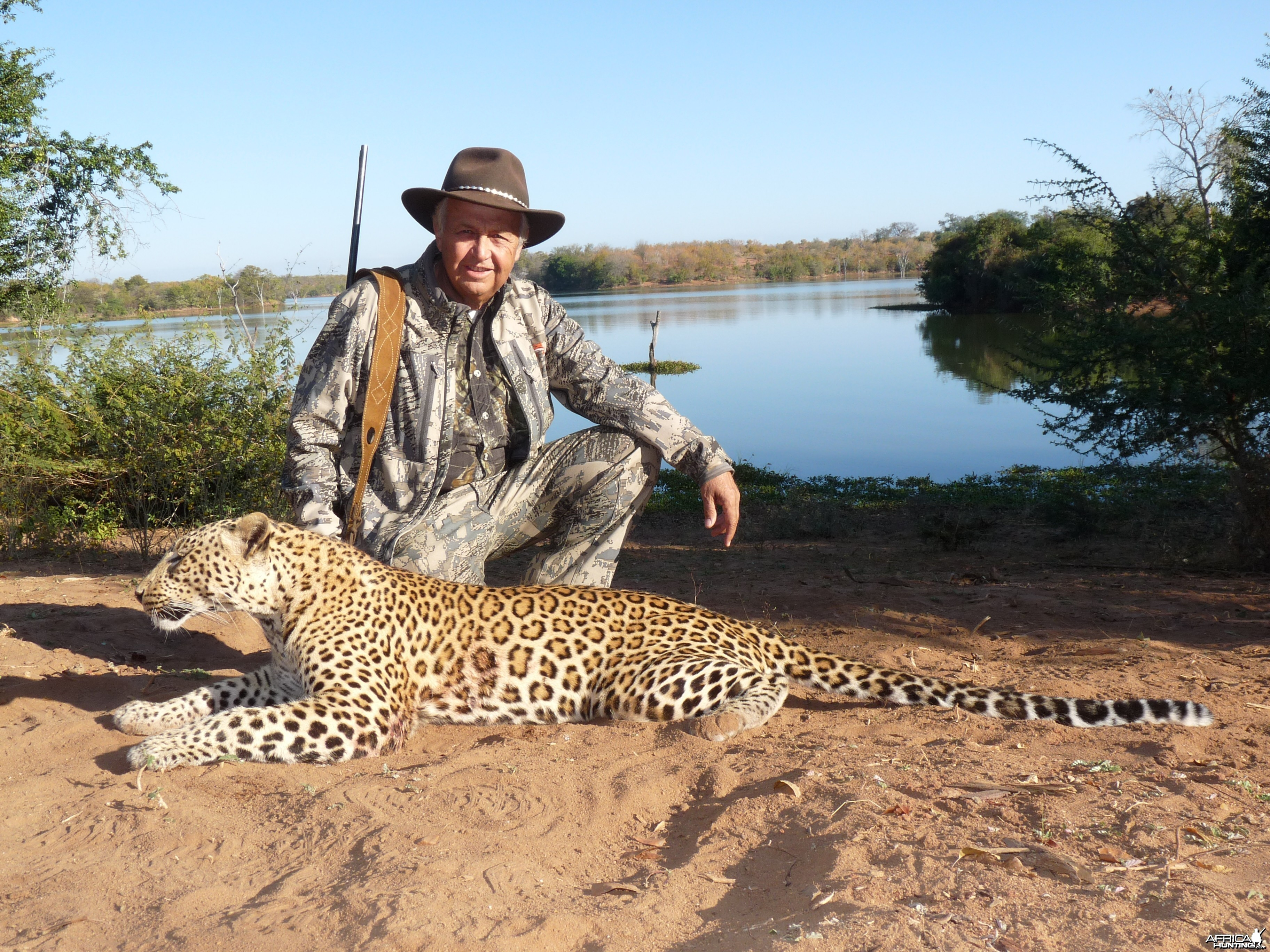 Hunting Leopard with Wintershoek Johnny Vivier Safaris in SA