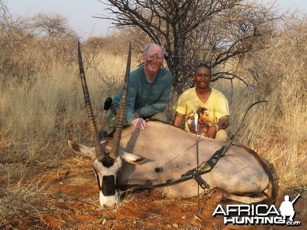 Bow Hunting Oryx in Namibia