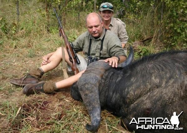 Nice old Buffalo bull hunted in Zimbabwe