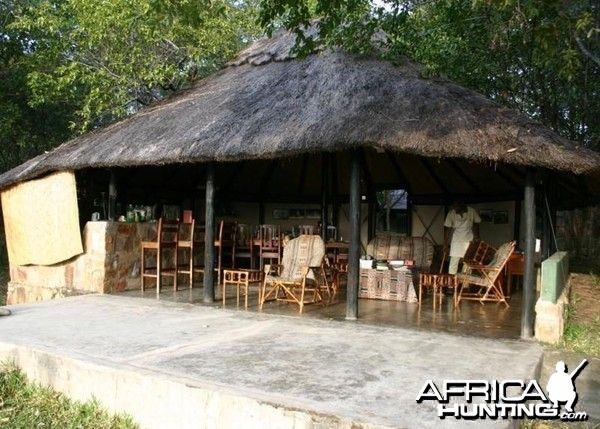 Dining Hut at Camp in Zimbabwe