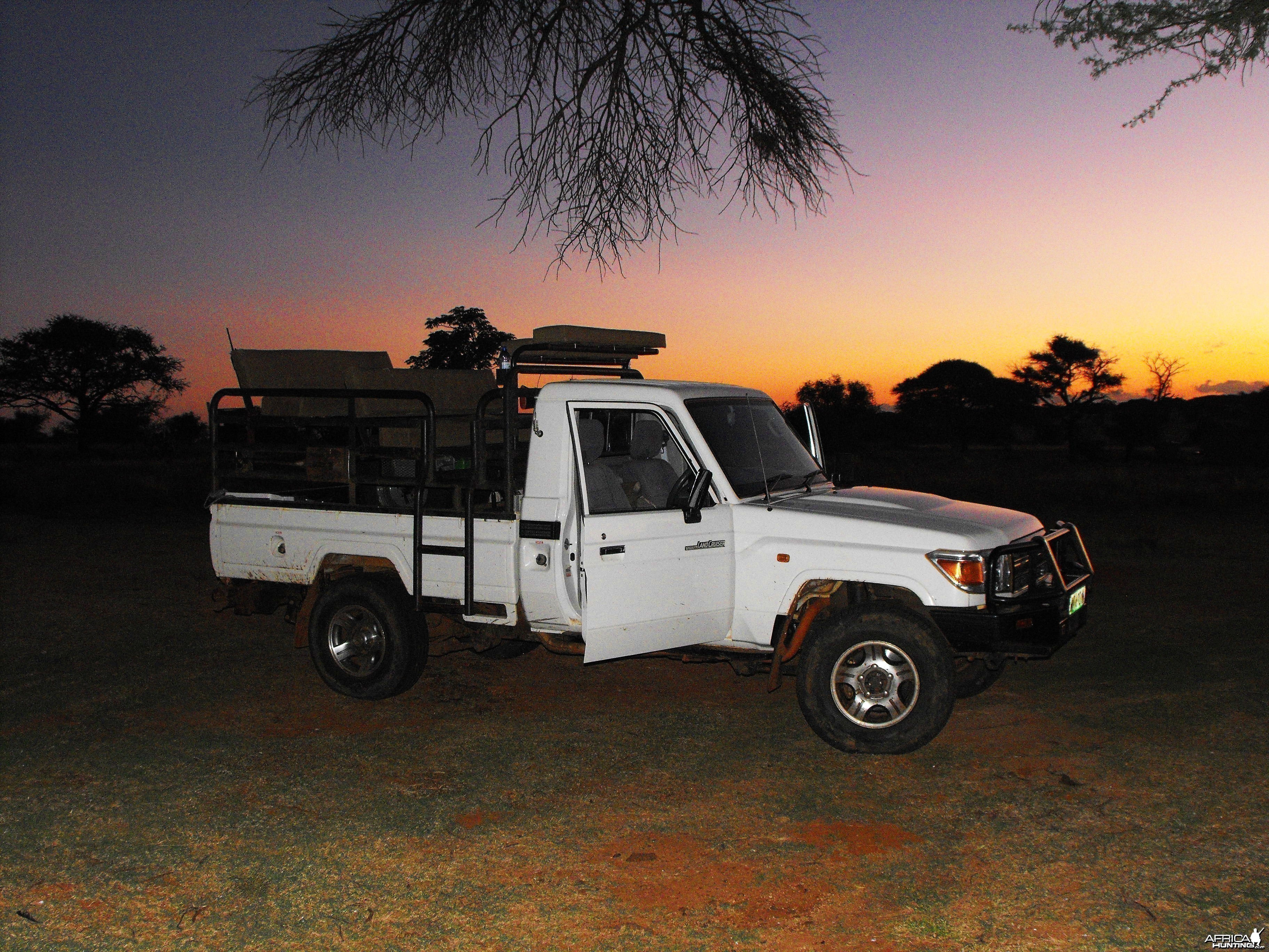 Our huntmobile at dusk