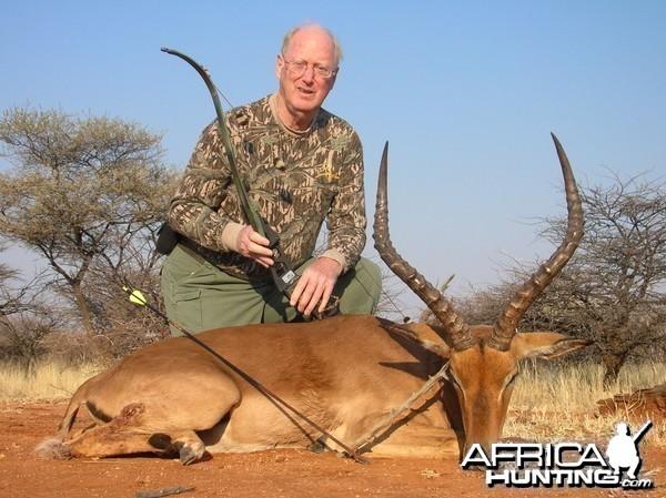 Bow Hunting Impala in Namibia
