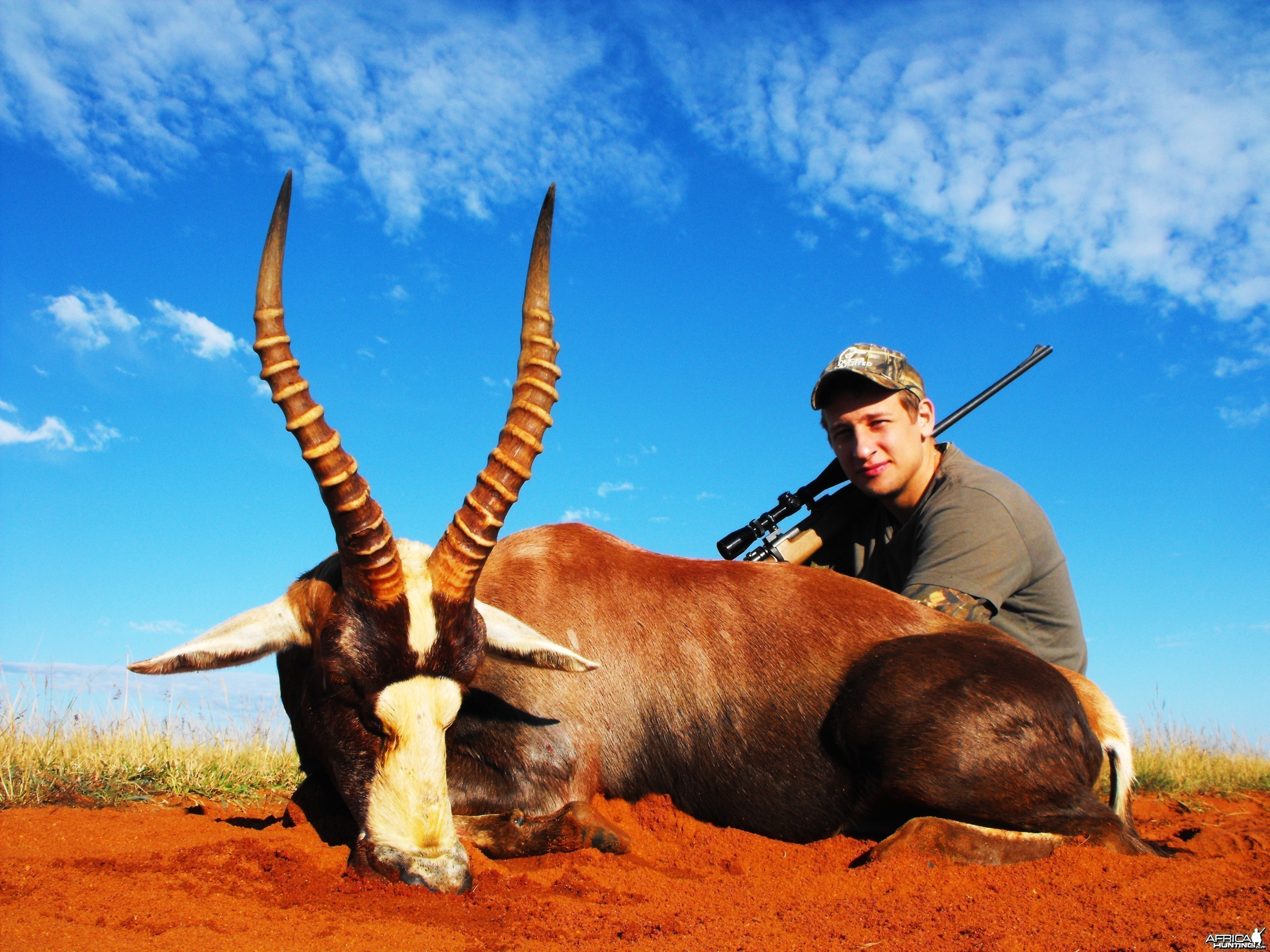 Alexei with his super 17 inch blesbok ram!