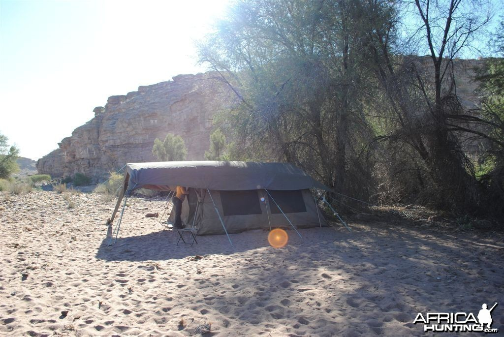 Fly camp in Southern Namibia