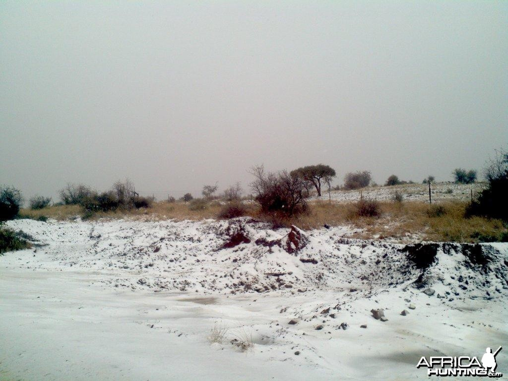 Snow in the southwestern part of Namibia