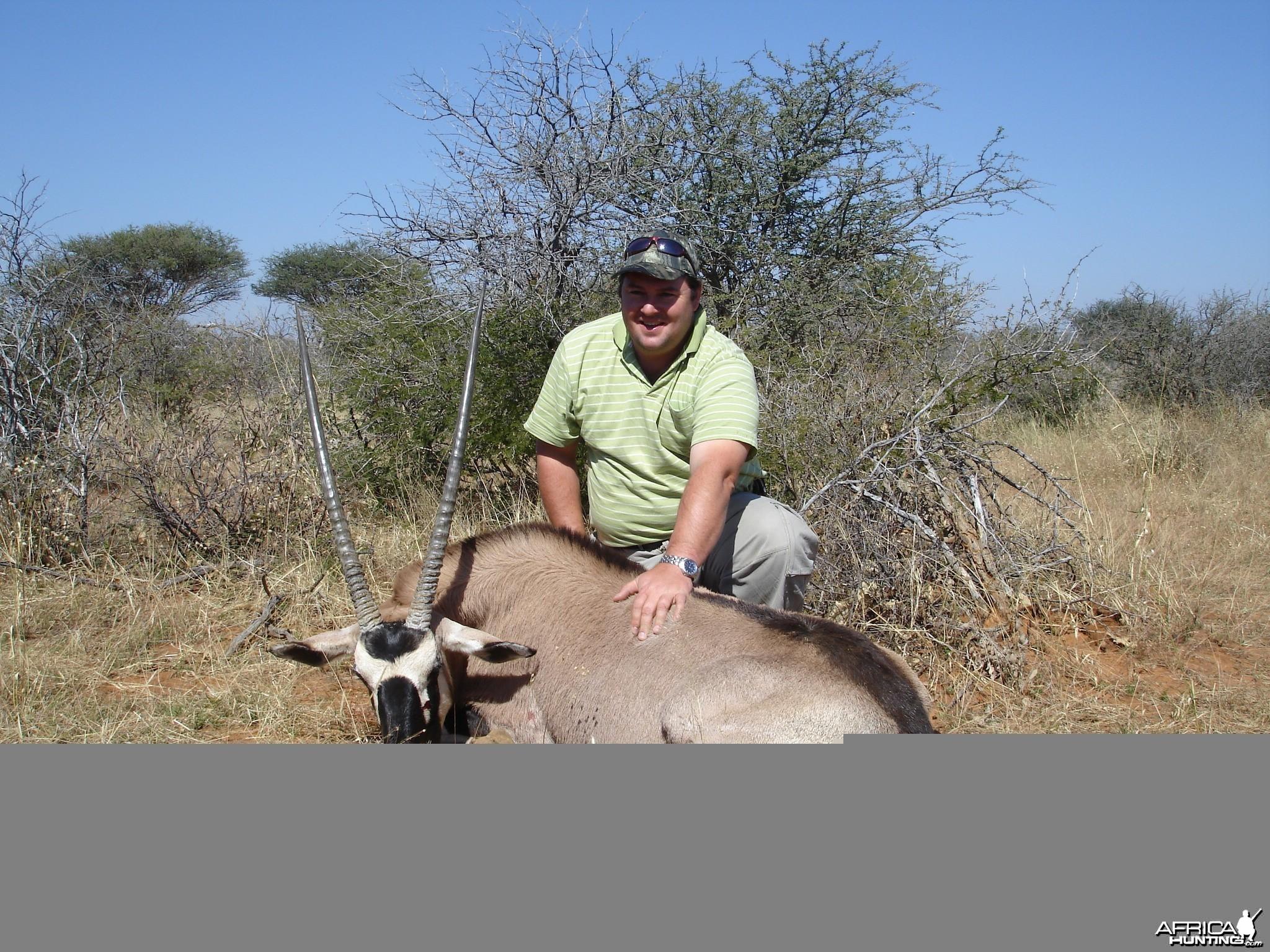 Gemsbok Namibia hunting 2008