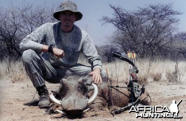 Bow Hunting Warthog in Namibia