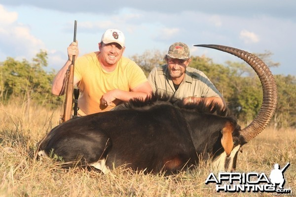 47 7/8 inch Monster Sable hunted in Zambia