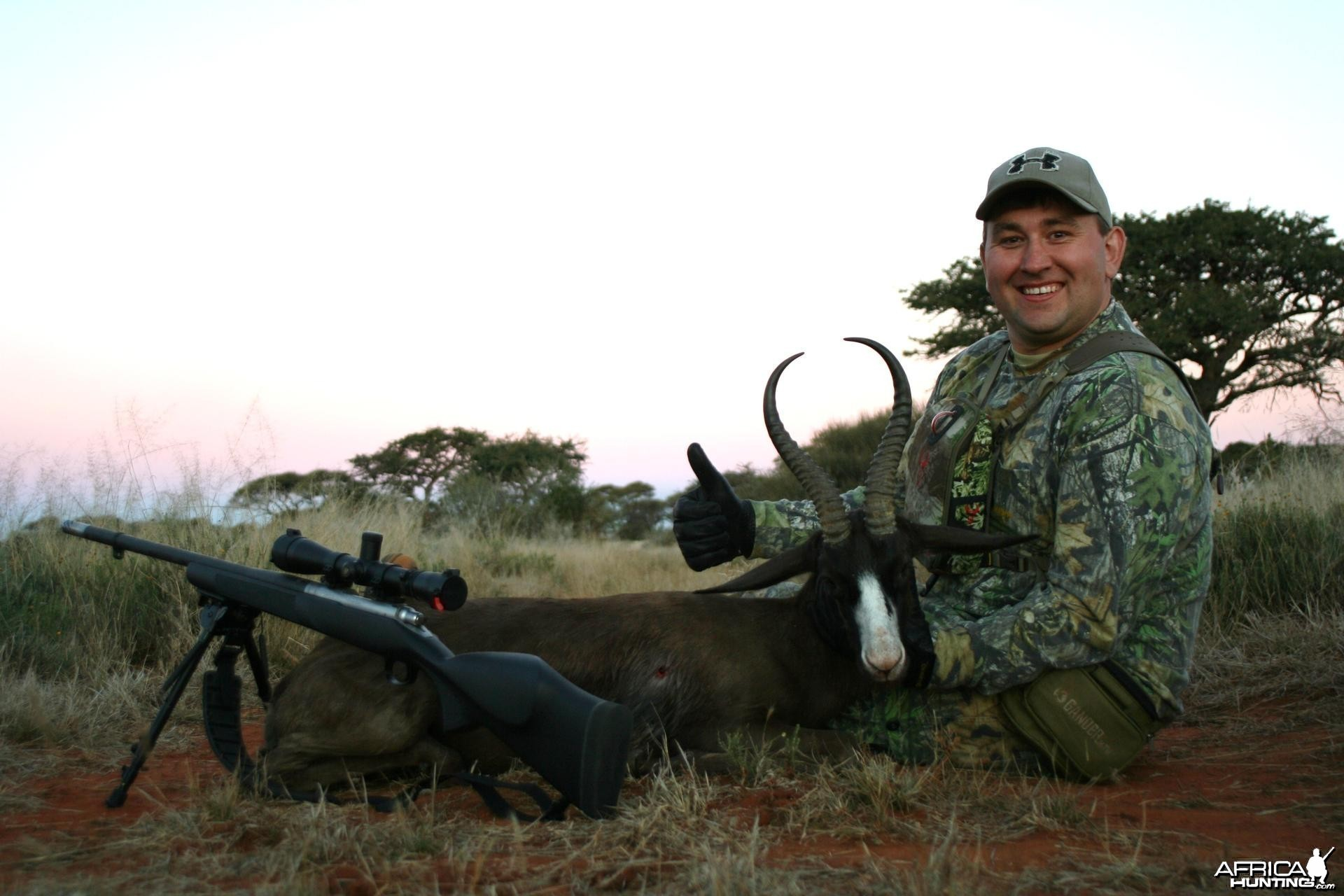 Black springbok hunted with  muzzleloader
