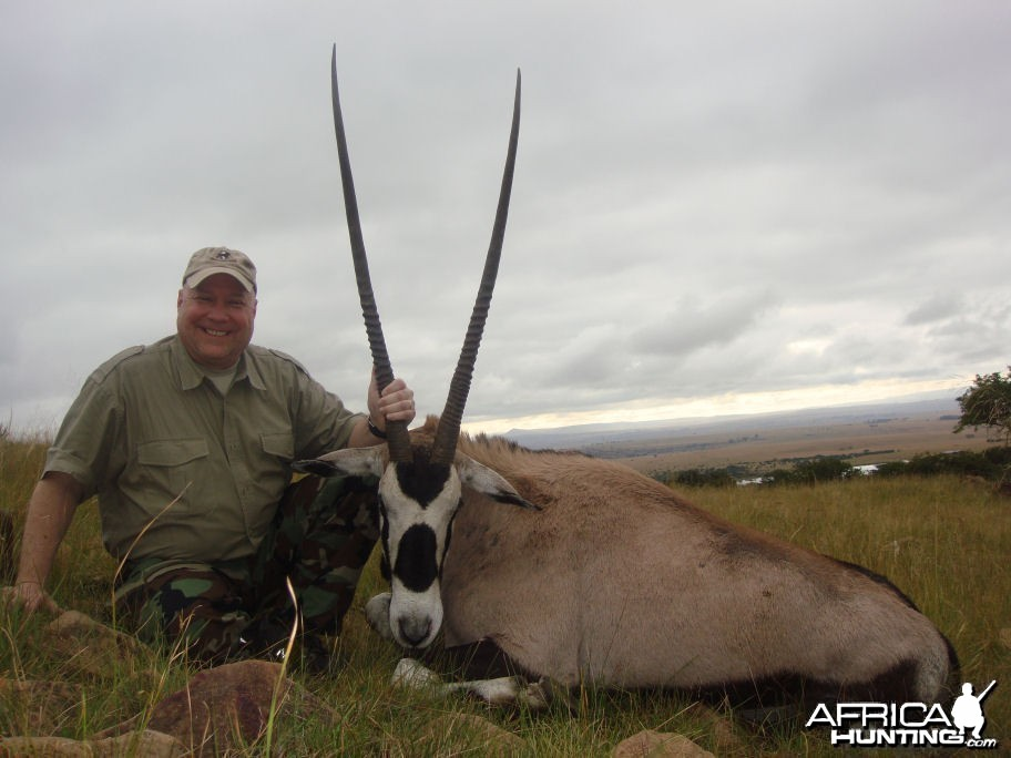 "42"" Gemsbok taken in KwaZulu province South Africa"
