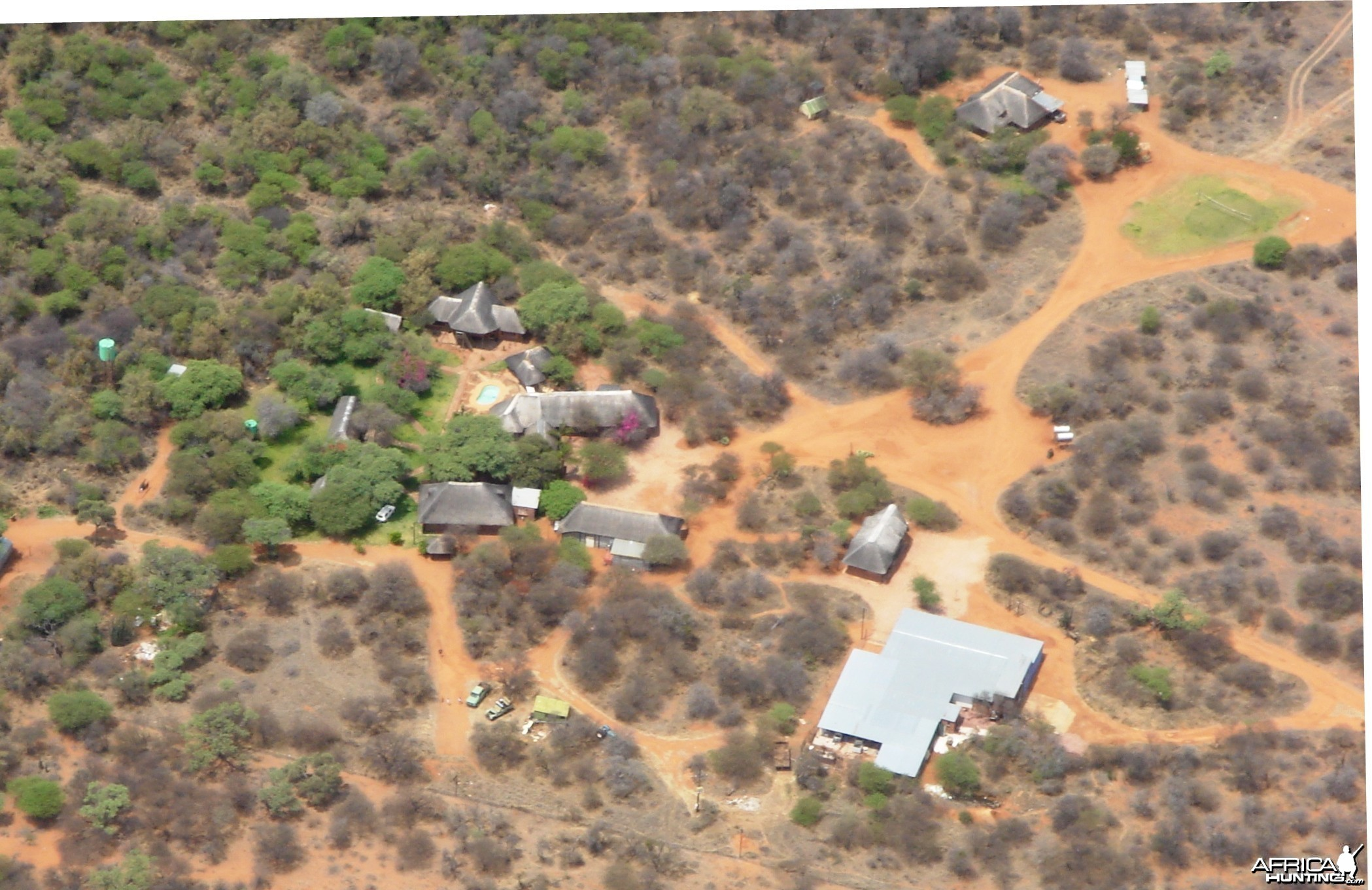 Camp from the air