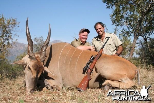Eland hunted in Limpopo SA